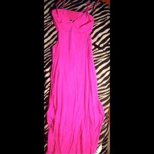 Long, summer dress, 2 side slits